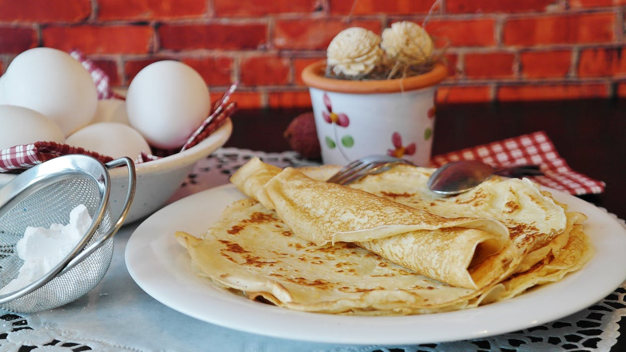 French crepes on a plate