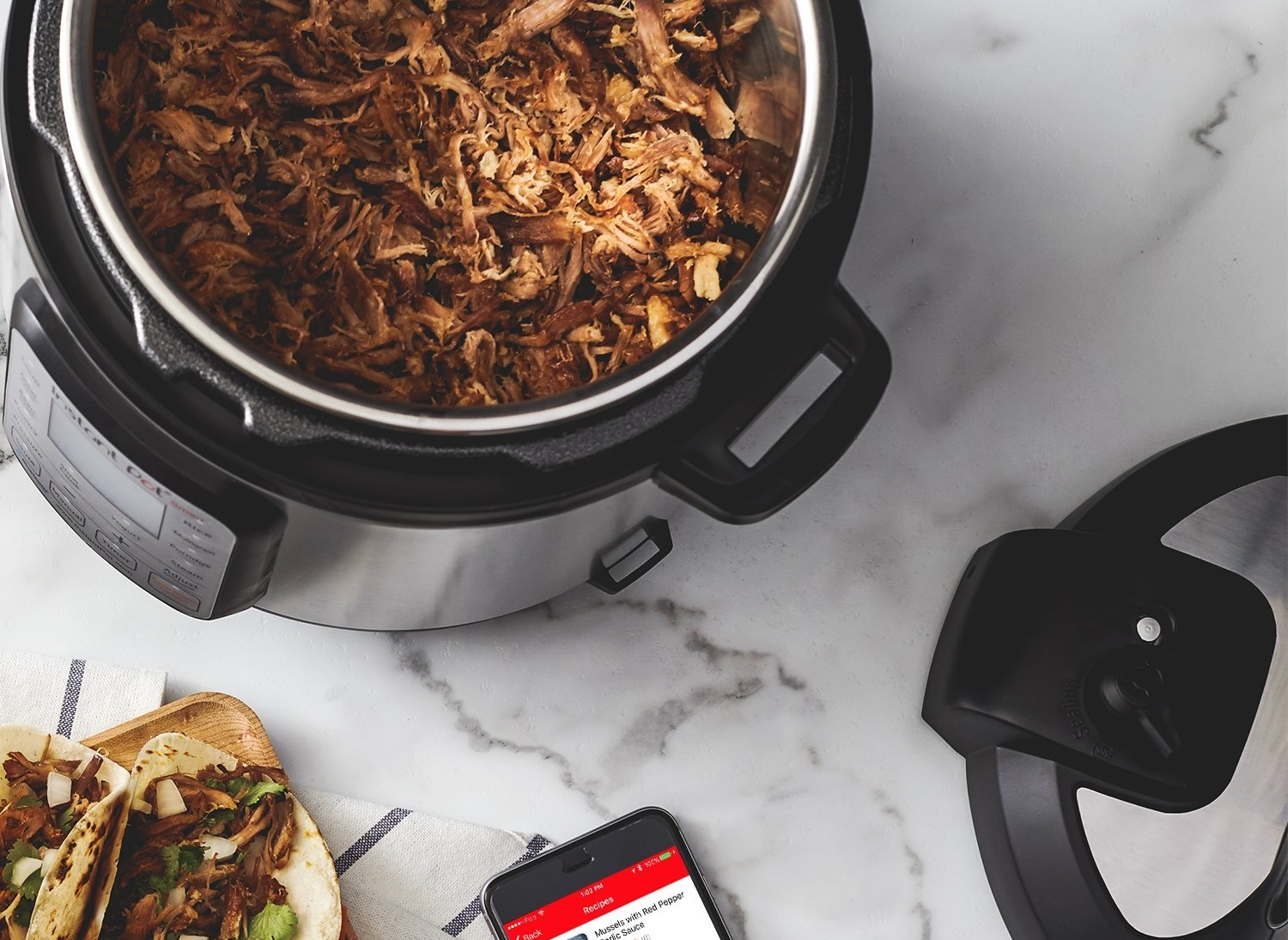 Meat in a slow cooker
