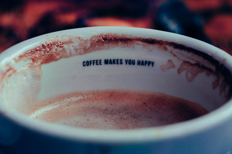 Coffee makes you happy sign