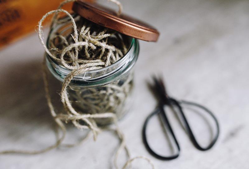 A jar full of thread