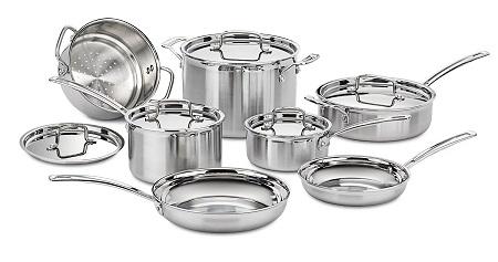 cuisinart stainless steel cookware set