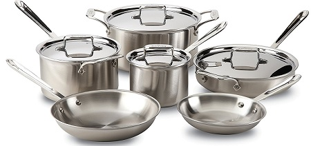 All-Clad Brushed Stainless Steel 10-Piece Cookware Set Review