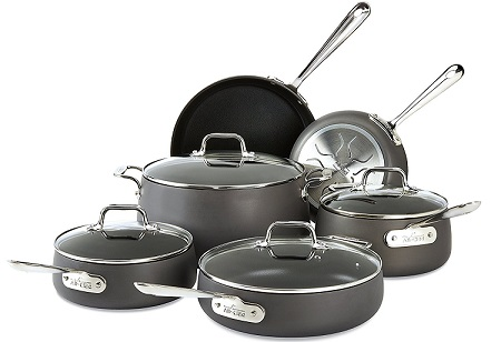 All-Clad Hard Anodized Nonstick 10-Piece Cookware Set Review