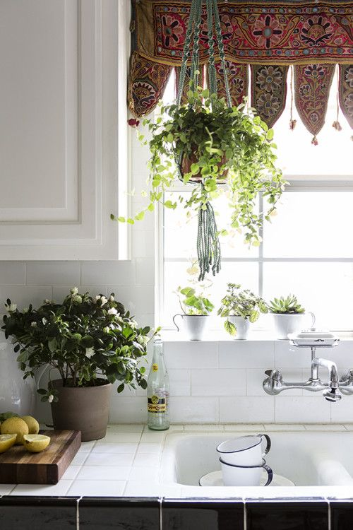 boho-kitchen-window - The Kitchen Witches