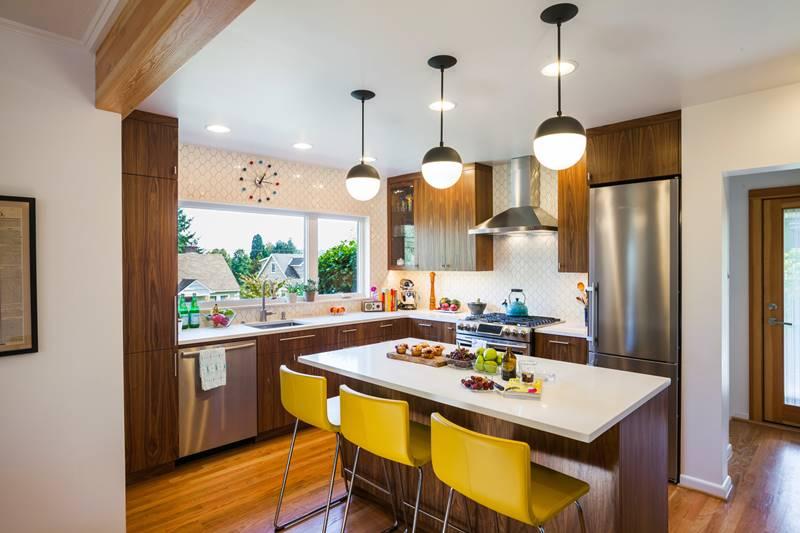 Wooden mid centry modern kitchen