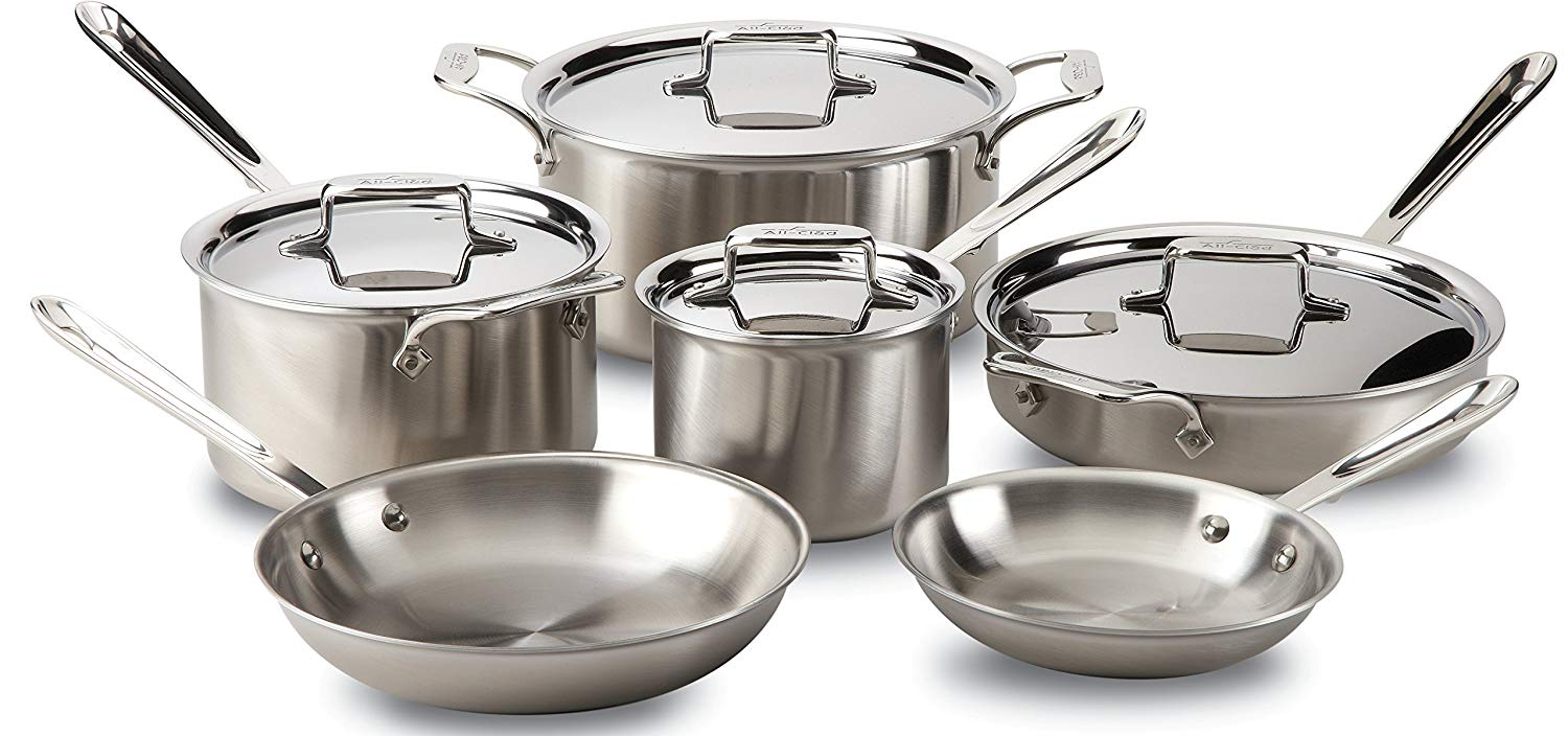 all-clad d5 stainless cookware set