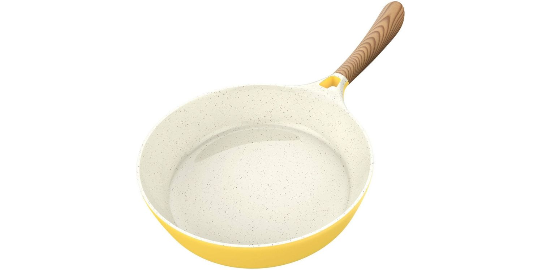 Vremi ceramic non stick frying pan in yellow